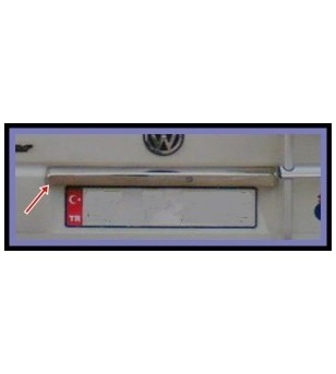 VW Transporter T4 -2003 REAR TRUNK LID COVER STEEL - rvs - 3507290008 - RVS / Chrome accessoires - Unspecified