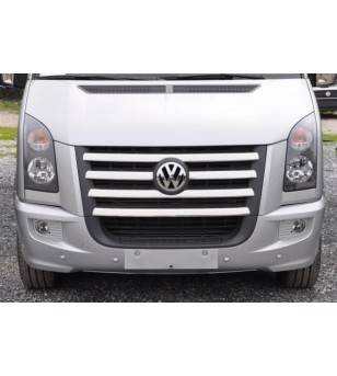 VW Crafter 2006-2011 FRONT GRILL - STEEL  -  stainless - 3504050043 - Stainless / Chrome accessories - Unspecified - Verstralers