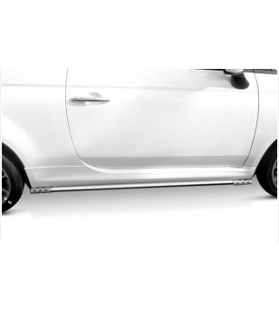 Fiat 500 Lounge & Pop stainless siderails SALE! - 505556 - Sidebar / Sidestep - Unspecified - Verstralershop