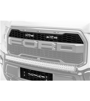 Ford Raptor 2017+ Grille LED Kit, Incl. (2) 6 Inch LED