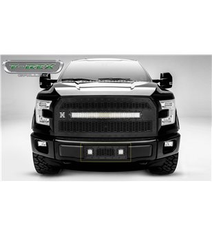 "Ford F150 2015-2017 Stealth Laser Torch Bumper Grille incl 2x 3"" Led"