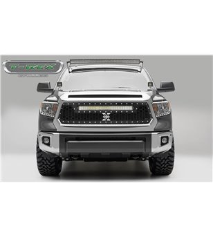 "Toyota Tundra 2014-2017 Stealth Laser Torch Grille Chrome Studs incl 30"" Led"