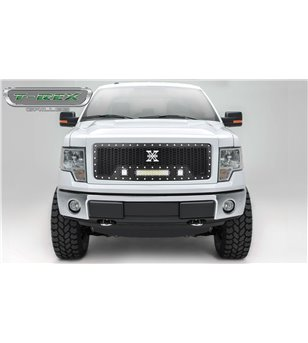 Ford F150 2013-2014 Stealth Laser Torch Grille Chrome Studs incl Led