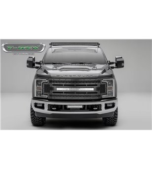 "Ford Super Duty 2017- Stealth Laser Torch Grille incl 30"" Led - 7315471-BR - Grille - T-Rex Laser Torch LED Grilles - Verstraler"