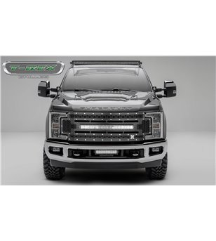 "Ford Super Duty 2017- Stealth Laser Torch Grille Chrome Studs incl 30"" Led - 7315471 - Grille - T-Rex Laser Torch LED Grilles -"