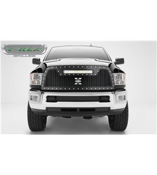 "RAM 2500 2013-2018 Stealth Laser Torch Grille Chrome Studs incl 20"" Led - 7314521 - Grille - Verstralershop"