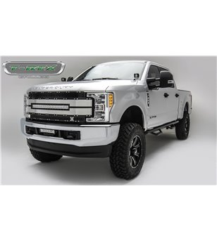 "Ford Super Duty 2017- Torch AL Grille Black-Silver incl 30"" Led (SD w cam)"
