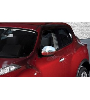 Nissan Juke 2010+ MIRROR COVER (set) stainless - 2402120114 - Stainless / Chrome accessories - Verstralershop