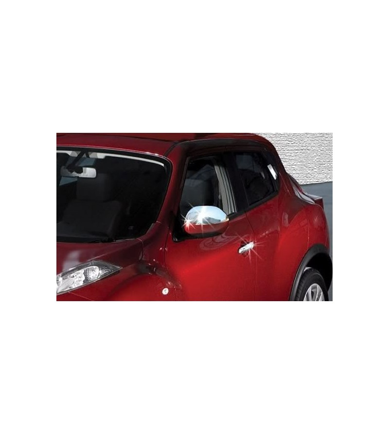 Nissan Juke 2010+ MIRROR COVER (set) stainless - 2402120114 - Stainless / Chrome accessories - Unspecified - Verstralershop