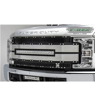 "Ford Super Duty 2017- Torch AL Grille Black-Silver incl 30"" Led"