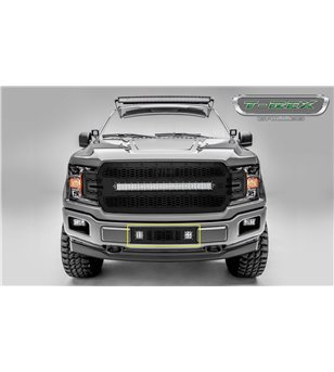 "Ford F150 2018- Stealth Laser Torch Bumper Grille incl 2x 3"" Led (Limited/Lariat)"