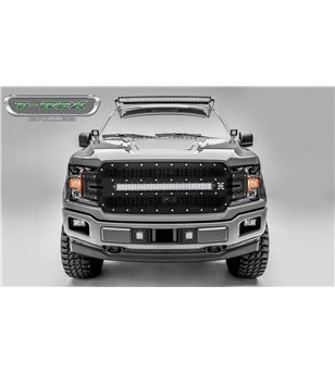 "Ford F150 2018- Stealth Laser Torch Grille Chrome Studs incl 30"" Led (F150 w cam) - 7315751 - Grille - Verstralershop"