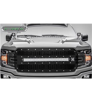 "Ford F150 2018- Stealth Laser Torch Grille Chrome Studs incl 30"" Led"