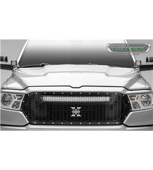 "RAM 1500 2019- Stealth Laser Torch Grille Chrome Studs incl 30"" Led"