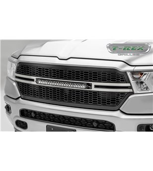 "RAM 1500 2019- Stealth Laser Torch Grille incl 20"" Led - 7314651-T - Grille - T-Rex Laser Torch LED Grilles - Verstralershop"
