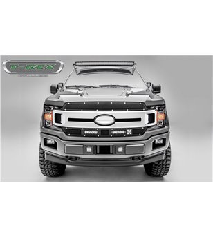 "Ford F150 2018- Laser Torch Grille Chrome Studs incl 2x 6"" Led (Lariat, XLT) - 6315691 - Grille - Verstralershop"