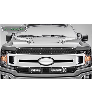"Ford F150 2018- Laser Torch Grille Chrome Studs incl 2x 6"" Led (Lariat, XLT)"