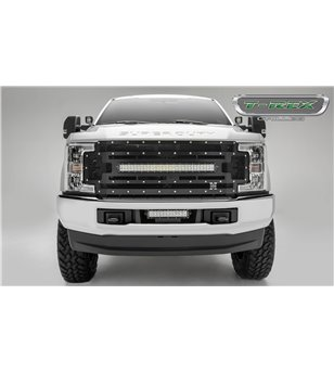 "Ford Super Duty 2017- Stealth Laser Torch Grille Chrome Studs incl 30"" Led (SD w cam)"