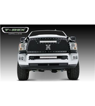 """RAM 2500 3500 2013-2018 Torch Grille Chrome Studs incl 20"""" Led"""