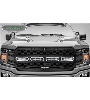 "Ford F150 2018- Revolver Grille Chrome Studs incl 4x 6"" Led (F150 w cam)"