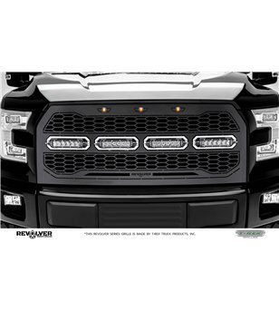 "Ford F150 2015-2017 Revolver Grille Chrome Studs incl 4x 6"" Led"