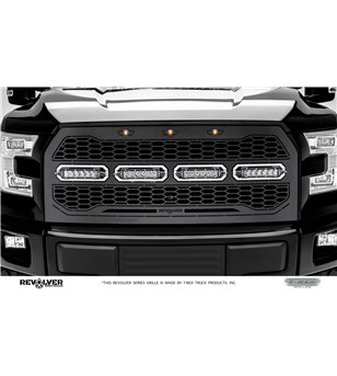 "Ford F150 2015-2017 Revolver Grille Chrome Studs incl 4x 6"" Led (F150 w cam)"
