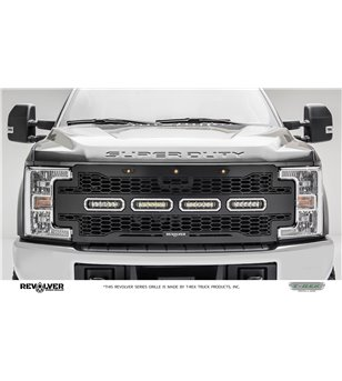 "Ford Super Duty 2017- Revolver Grille Chrome Studs incl 4x 6"" Led - 6515641 - Grille - T-Rex Revolver LED Grilles - Verstralersh"