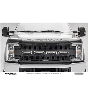 "Ford Super Duty 2017- Revolver Grille Chrome Studs incl 4x 6"" Led (SD w cam) - 6515631 - Grille - T-Rex Revolver LED Grilles - V"