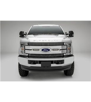 "Ford Super Duty 2017- Grille LED Kit Brushed - incl 2x 6"" led (Lariat, King Ranch)"