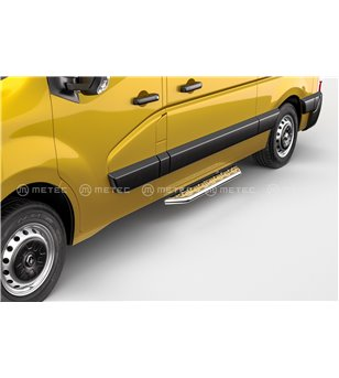 RENAULT MASTER 19+ RUNNING BOARDS VAN TOUR for sidedoor pcs - 828012 - Sidebar / Sidestep - Verstralershop