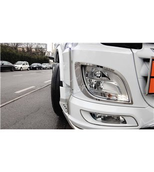 DAF XF 106 Head lamp Contourset - 3F010DXF - Stainless / Chrome accessories - Verstralershop