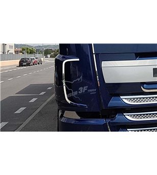 DAF XF 106 Air Intake Contourset - 3F008DXF - Stainless / Chrome accessories - Discio Truck Contoursets - Verstralershop