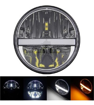 AngryMoose Black LED koplamp DRL - set - HL-30-7D set - Verlichting - Verstralershop