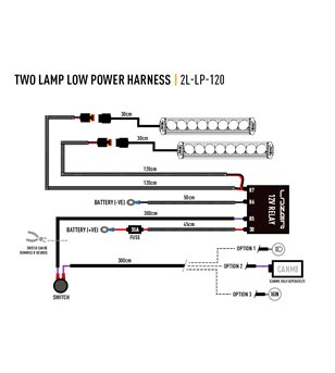 Lazer Wiring set two lamp without switch