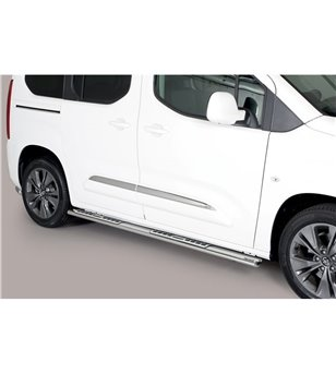 Toyota ProAce City Verso L1 2019- Design Side Protections Inox - DSP/469/SWB - Sidebar / Sidestep - Verstralershop