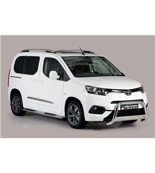 Toyota ProAce City Verso L1 2019- Oval grand Pedana (Oval Side Bars with steps) Inox
