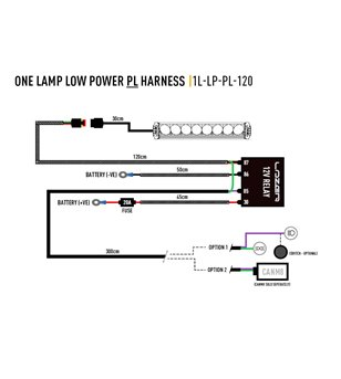 Lazer Wiring kit 1 lamp - lamp with position light (12V)