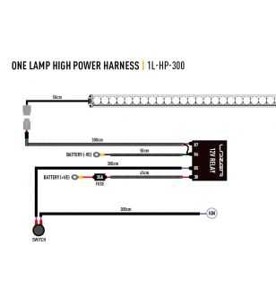 Lazer Wiring kit 1 lamp High Power (12V)