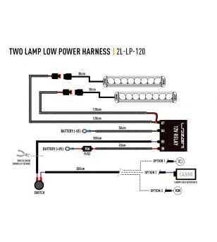 Lazer Wiring kit 2 lamps(12V)