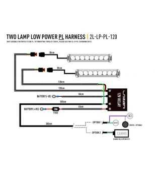 Lazer Wiring kit 2 lamps - lamps with position light (12V)