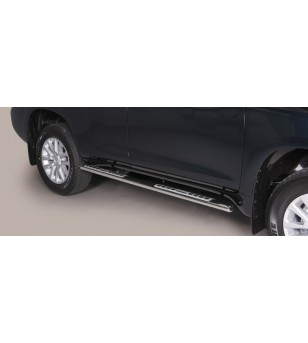 Land Cruiser 150 2014- Design Side Protection Oval - BLACK - DSP/255/PL - Sidebar / Sidestep - Verstralershop