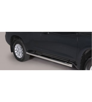 Land Cruiser 150 2014- Grand Pedana ø 76 - BLACK - GP/255/PL - Sidebar / Sidestep - Verstralershop