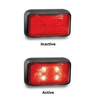 Markerlight LED 58x35mm Red