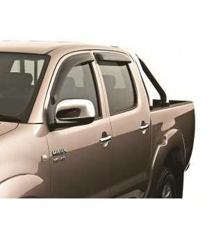 Hilux 05- DBL CAB Wind deflectors lichtgetint (voor) - 91292047B - Overige accessoires - Unspecified