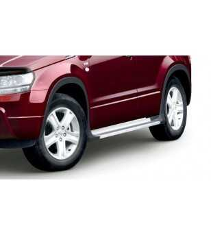 Grand Vitara 09- Integrated sidesteps met wielkastverbreders