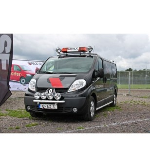 Opel Vivaro 2002- Q-Light/2 lightbar - Q900221-24 - Bullbar / Lightbar / Bumperbar - QPAX Q-Light - Verstralershop
