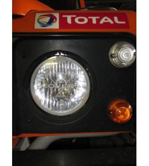 Universal 175mm Cover Transparant  -  Fits Defender headlights (set)