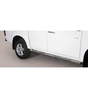 D-Max 12- Double Cab Design Side Protection Oval - DSP/314/IX - Sidebar / Sidestep - Unspecified