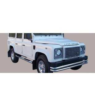 Defender 90 94- Double Front Protection - 2PA/261/IX - Bullbar / Lightbar / Bumperbar - Unspecified