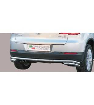 Tiguan 07-11 Double Rear Protection - DP2/233/IX - Rearbar / Rearstep - Unspecified